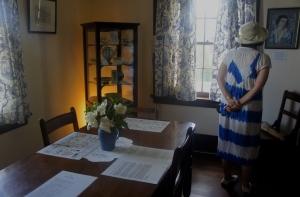 Nutcote dining room.