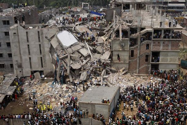 Rana Plaza garment factory collapses killing 1127 workers.