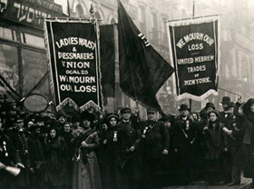 Part of the protests of the Triangle factory fire. 1911.