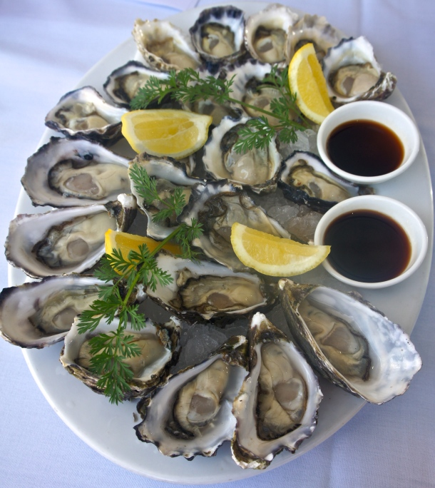 Fresh shucked Sydney rock and Pacific oysters. Photo JEE