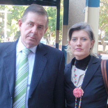 Peter and Inge Slipper at the Ashby v Slipper Appeal hearing. c/- Ross Jones and Independent Australia